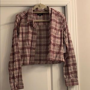 PACSUN Cropped Flannel